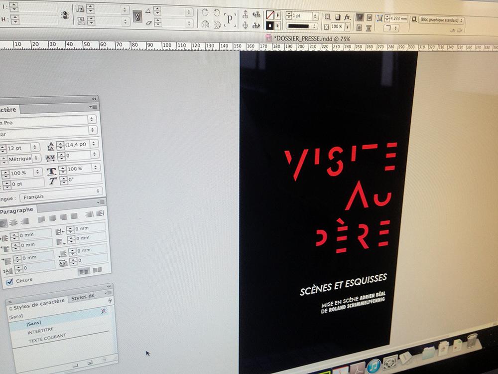 """Récit Graphique """"Visite au Père"""" typographie"""