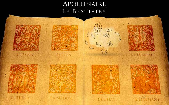 Bestiaire Apolinaire version interactive